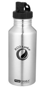 Produktbild der 2,0l einwandigen Trinkflasche aus Edelstahl in Silber von ECOtanka mit Poly-Loop-Verschluss in schwarz aus PP5. Für einen leichten Transport der Vorräte und Reserven. Der perfekte Begleiter bei Outdoor Aktivitäten oder langen Workouts mit praktischem Ausgießer für das Ausschenken von Getränken.
