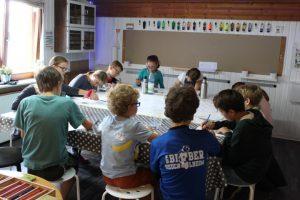 Die Bearbeitung der Thematik erfolgte in Gruppen- und Einzelarbeit. Die Kinder hatten immer die Möglichkeit sich auszutauschen