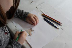 Ein Fuchs, gezeichnet von einer Teilnehmerin des Projektes
