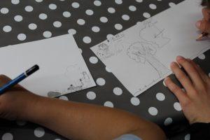 Vielen schöne Zeichnungen von den Kindern die am Projekt beteiligt sind