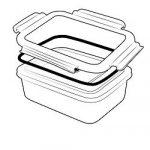 ECOtanka Edelstahl lunchBOX mit Verschlussrahmen und Dichtung
