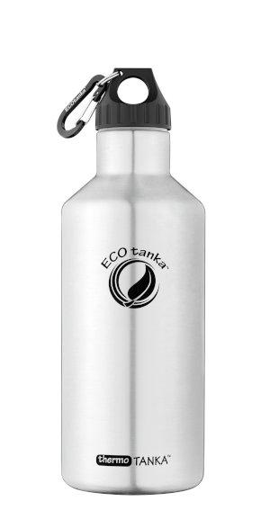 Produktbild der 1,2l thermoTANKA, Isolierflasche aus Edelstahl von ECOtanka mit Poly Loop Verschluss und Karabinerhaken