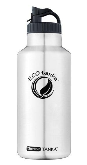 Produktbild der 2,0l thermoTANKA, Isolierflasche aus Edelstahl von ECOtanka mit Poly-Loop-Verschluss zum Einschenken von Getränken und Tragegriff