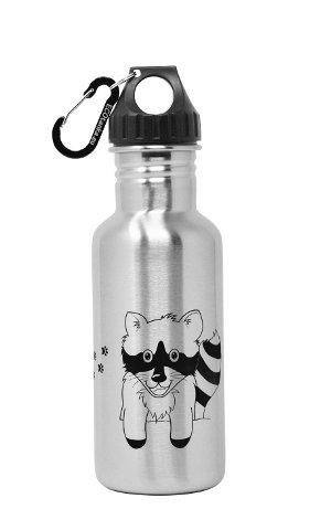 Produktbild der ECOtanka 0,6l miniTANKA Racoon Edition, Trinkflasche aus Edelstahl mit Poly-Loop-Verschluss