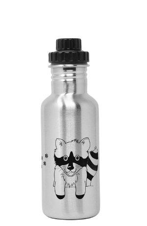 Produktbild der ECOtanka 0,6l miniTANKA Racoon Edition, Trinkflasche aus Edelstahl mit Reduzier-Verschluss