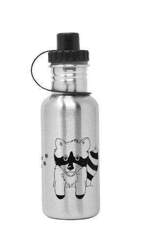 Produktbild der ECOtanka 0,6l miniTANKA Racoon Edition, Trinkflasche aus Edelstahl mit Sport-Verschluss