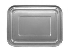 Produktbild der 2,0l Brotdose aus Edelstahl in Silber von ECOtanka mit Edelstahl-Deckel. Für den Transport und die das Lagen und Aufbewahren von Gerichten und Snacks. Die ideale Dose für zuhause, auf der Arbeit, unterwegs, auf Reisen bei Ausflügen oder anderen Outdooraktivitäten.