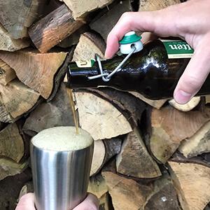Bild des 350ml doppelwandig isolierender Trinkbechers aus Edelstahl in Edelstahl-Optik von ECOtanka, der perfekte to Go Becher, hält dein Getränk länger heiß oder kalt
